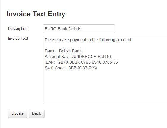 Where Can I Add Different Bank Details So They Appear On A Sales - Invoice with bank details