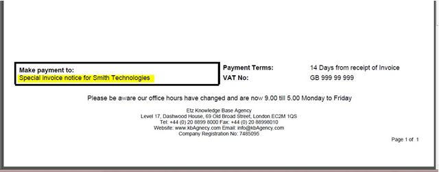 Add Informationcomments Or Text To A Sales Invoice Etz - Invoice template with payment details