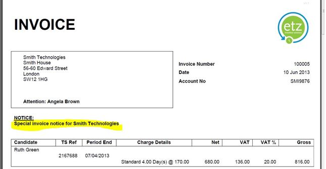 Add Informationcomments Or Text To A Sales Invoice Etz - Invoice details