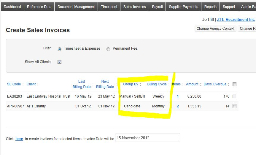 How Do Client Billing Cycles And Invoice Grouping Options Work