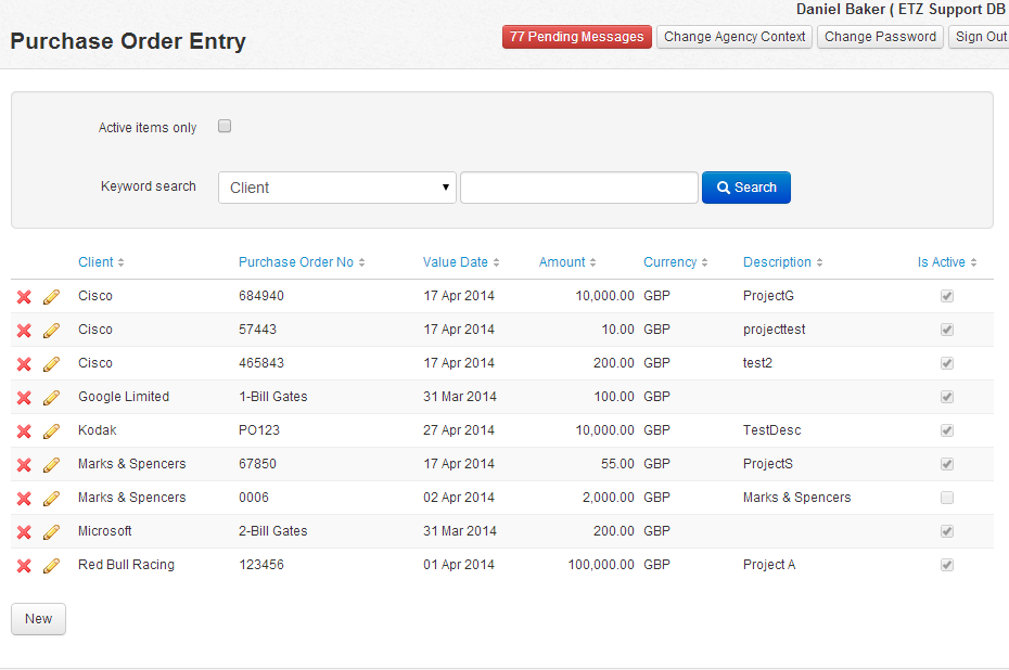How Do I Enter A Purchase Order On Etz Etz Technologies Ltd